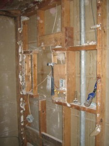 Load bearing wall missing framing members