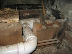 Hacked floor joists